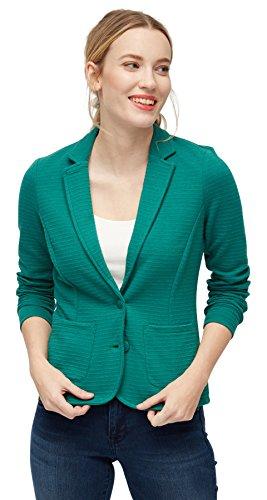TOM TAILOR für Frauen Blazer / Vest Blazer aus Sweat mit Struktur ecuador green XL (Blazer Stretch Reverskragen)
