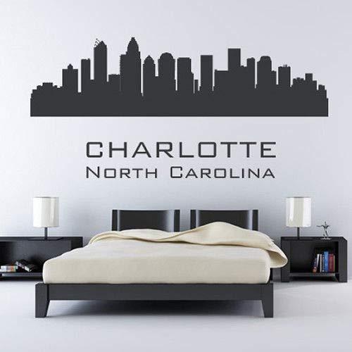 lina City Skyline America Usa Wall Stickers Home Art Decals ()