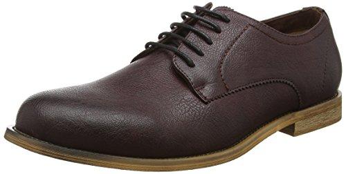 new-look-mens-3804537-derbys-zapatos-de-cuero-para-hombre-rojo-67-dark-burgundy-43-eu