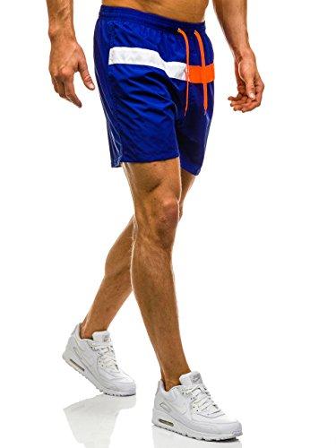 BOLF Herren Badehose Shorts Bermudas Kurzhose Fitness Sporthose Print Männer Jungen Motiv Badeshorts Bermudashorts viele trendige Farben Y729 Dunkelblau