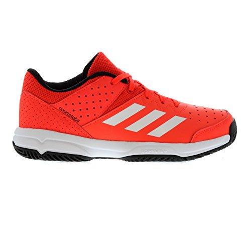 adidas Unisex-Kinder Court Stabil Jr Handballschuhe, Mehrfarbig (Rojsol/Ftwbla/Negbas) 36 2/3 EU