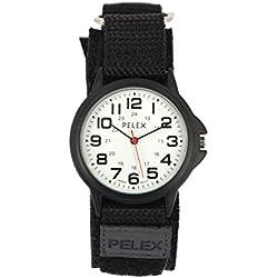 PELEX Black Wedding Strap Watch - White Face