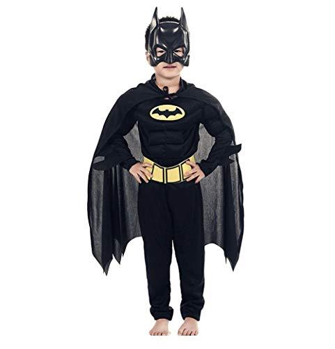 DS (GR. 98-128) BATMAN MUSKEL-KOSTÜM OVERALL MASKE UMHANG FASCHING - Batman Kostüm Einfach