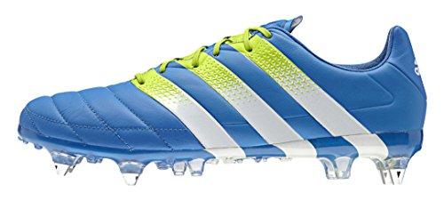 adidas Herren Ace 16.1 SG Leather Fußballschuhe Azul / Verde / Blanco (Azuimp / Seliso / Ftwbla)