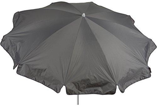 beo Sonnenschirme wasserabweisender, rund, Durchmesser 200 cm, Grau