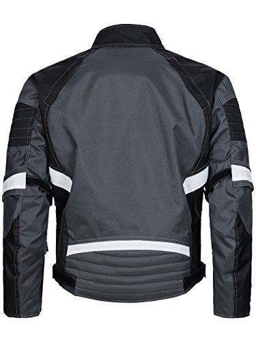 Limitless Herren Motorradjacke mit Protektoren - Textil Motorrad Jacke aus Cordura - wasserdicht winddicht Schwarz Grau Weiß 780 Gr. L - 2