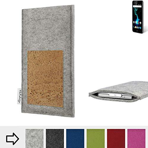 flat.design Handy Hülle Evora für Allview P6 Pro Made in Germany Handytasche Kartenfach Kork Filz Tasche Case