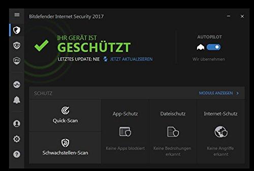 Bitdefender Internet Security 2017 - 1 Gerät   1 Jahr (MAC, Windows & Android) - Aktivierungscode (bumps) - 3