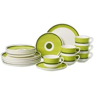 Villeroy & Boch Vivo Design Just-Green / 19-5207-7126 Service à café 18 pièces (6 tasses et soucoupes)