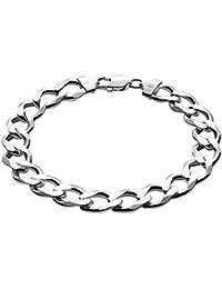 Braccialetto in argento, con custodia per gioielli, ideale come regalo per uomo