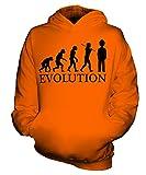 Candymix Garde Königliche Wache Evolution des Menschen Unisex Kinder Jungen/Mädchen Kapuzenpullover, Größe 3-4 Jahre, Farbe Orange