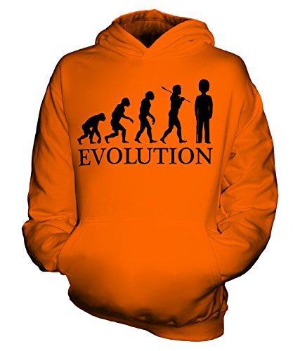 gliche Wache Evolution des Menschen Unisex Kinder Jungen/Mädchen Kapuzenpullover, Größe 3-4 Jahre, Farbe Orange ()