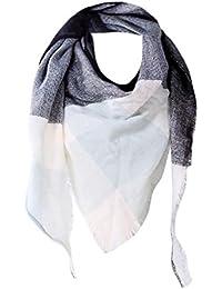 2fcde75e832e Malloom® Femme Echarpe Châle Cachemire Automne Plaid Treillis Laine foulard