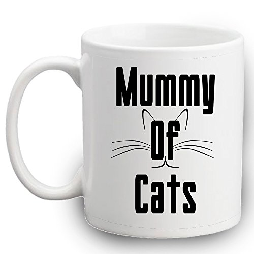 Momie de chats Tasse | Funny Chats | cadeau Hello Kitty chaton | | Crazy Cat Lady Tasse