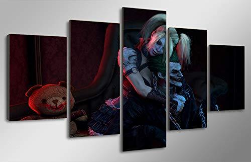ZhenFa Fünf-Link Animation Collage rahmenlose 5 Kombination hängenden/Malerei (Can, doppelseitigen Klebstoff, wie z. B. Feste oder Bild Frame straffe Federung)