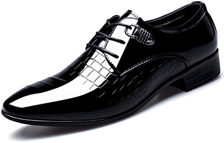 Zapatos de Vestir Hombre,Cuero PU Boda Negocios Calzado Vestir Cordones Zapatos Derby Oxford