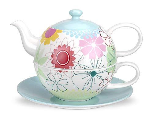 Bone China Tea Kaffee-Set Crazy Daisy Tea für einen