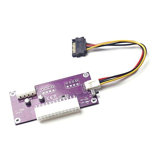 rokoo 24Pin PC Desktop ATX Dual PSU Netzteil Sync Starter Extender Kabel für Bitcoin mine miner Mining Erweitert DED Dual-sync-kabel
