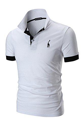 a8ad47ead Résultats de la recherche. xxxxx. YCUEUST Polo para Hombre Manga Cortas  Bordado Contrast Collar Golf Camiseta ...