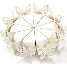 50Mariposas de Perlas para Boda para Marcado de Mesas y Sujetador de Arroz/Confeti