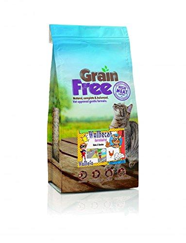 Wulliecat Grainfree für Kitten- Huhn mit Gemüse. Trockenfutter für Katzen Größe 2kg (Entzündungen Mischung)
