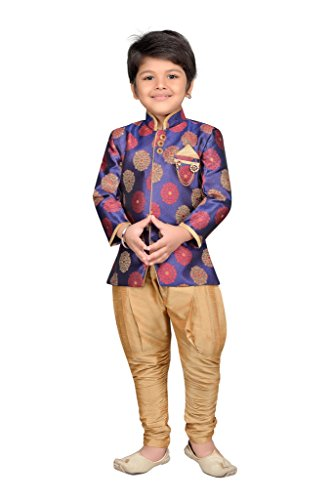 AJ Dezines Boys Indo Western Sherwani Suit for Kids (7001_PURPLE_8)