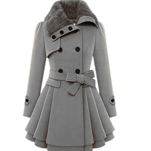 Lookhy Damen Windbreaker Warm Outwear Button Verschluss Asymmetrische Saum Mantel Mantel Rollkragen Strickkleid Einfarbig Pullover Kleid Lose Herbst Kleid Strickkleid Winter -
