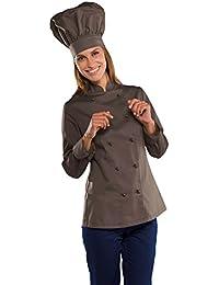 Isacco - Veste de cuisine Lady Chef couleur Chocolat