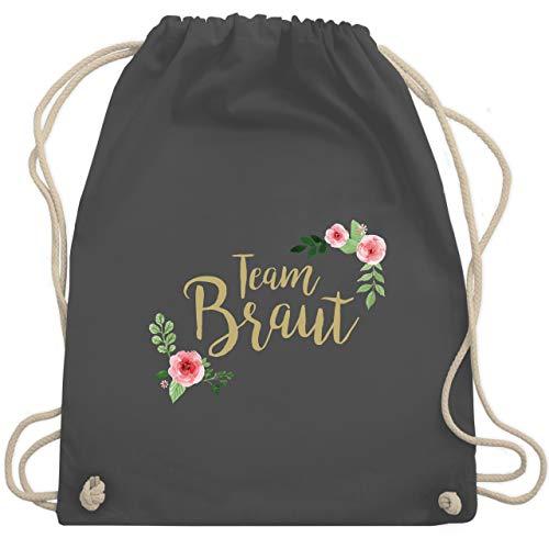 bschied - Team Braut Blumen - Unisize - Dunkelgrau - WM110 - Turnbeutel & Gym Bag ()