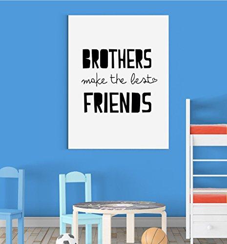 inspired walls brothers make the best friends kinderzimmer jungen madchen wall decor art poster print