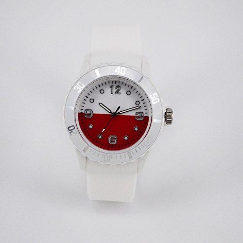 LanLan Unisex Modische World Cup Flag Watch mit Silikonband Einzigartige Armbanduhr Ornament Geschenk - Flag 2 Ornament