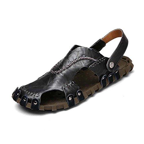 ZXCV Outdoor Schuhe Herrenschuhe Sommer atmungsaktiv Casual Sandalen bequeme atmungsaktive Herrenschuhe Hausschuhe Schwarz SbAoUnjy