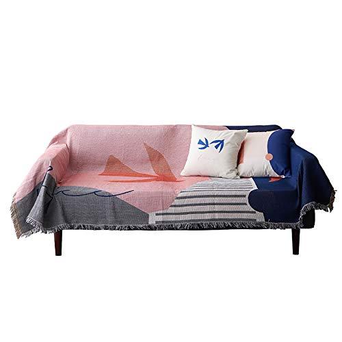 PUDDINGHH® Copridivano Divano Country Style Solid Tessuto Antiscivolo Copridivano Divano Asciugamano Coprisedile Elegante Sedile Mobili Protector Cuscini Divano Asciugamano,130 * 160cm