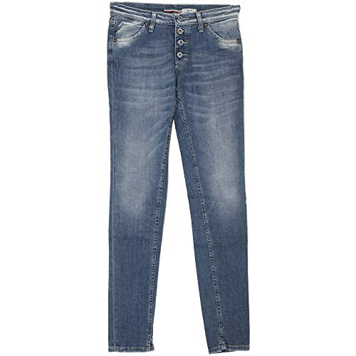 Please, P90C, Damen Jeans Hose, Stretchdenim, medium Blue, Large [21007]