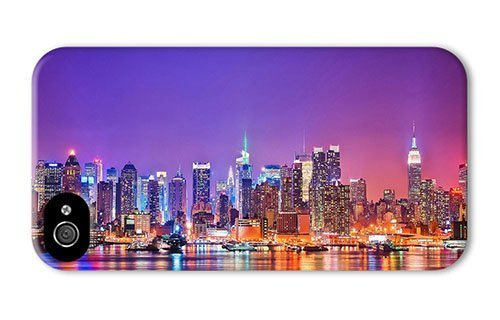 Hipster iPhone 4 case rugged Colorful New York City PC 3D for Apple iPhone 4/4S by icecream design