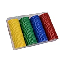 160Pcs/Set Face Value Poker Round Chips Counting Number Toy Game Party Props
