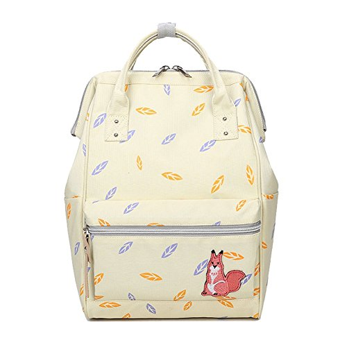 WanYang Fashion Zainetto Zaino in Tela Backpack Tasca Dentro Libro Borse Zaino per le Ragazze Zaino Beige