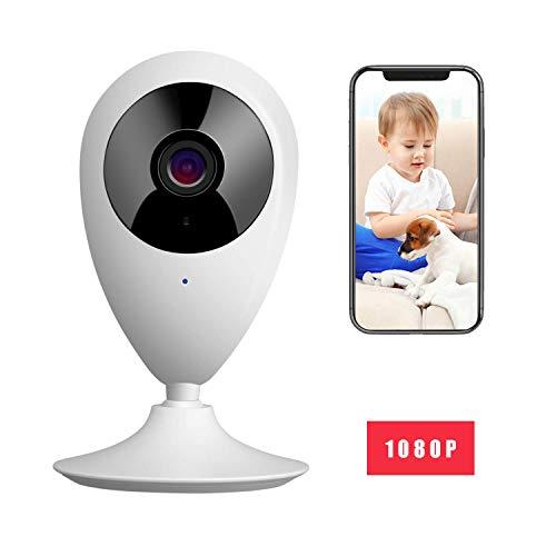 MYPIN 1080P Babyphone Smart Baby Monitor WiFi Überwachungskamera mit Digital dual Audio Funktion,Temperatursensor, Schlaflieder, Nachtsicht, Gegensprechfunktion