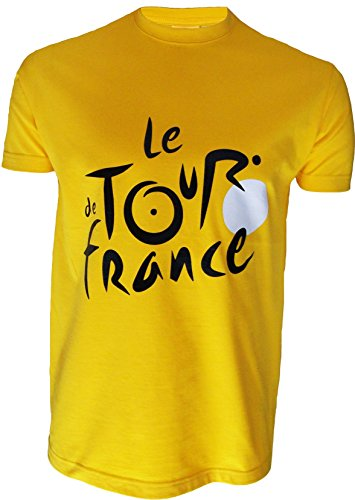 Le Tour de France de ciclismo – Camiseta oficial – para hombre, talla DE adulto, Le Tour de France, color amarillo, tamaño medium