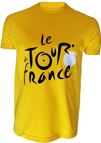 Le Tour de France de ciclismo–Camiseta oficial–para hombre, talla DE adulto, Le Tour de France, color amarillo, tamaño medium