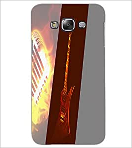 PrintDhaba Guitar D-4440 Back Case Cover for SAMSUNG GALAXY A7 (Multi-Coloured)