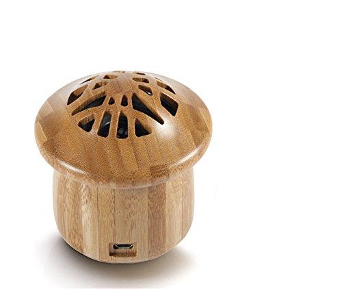 Especificación:  Material: Bambú Carbonizado  Tamaño del producto: 8.4*8.4cm  Capacidad de la Batería: 500mA 3.75V  Tiempo de Juego: 8-10h  Tiempo de Carga: 3-5h  Voltaje: 3.75V  Bluetooth Distancia: 10m  Color: Color de la Madera, Marrón El Paquete ...