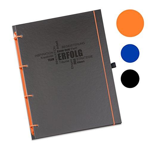 Refill 6 Ringbuch-kalender (Schaar-Design flexiNotes® ORGANIZER A5 nachfüllbar, Buchkalender 2018, 1 Woche auf 2 Seiten als Planer Typ: A5, ,,Business', Farbe:Orange, Papier:Organizer Basic - Wochenkalender - Ring L)