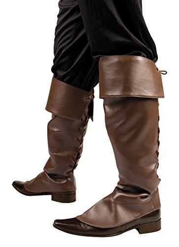 erdbeerloft - Stiefelstulpen Walker mit Bindekordel Kostüm, Braun (Schatz Jäger Kostüme)