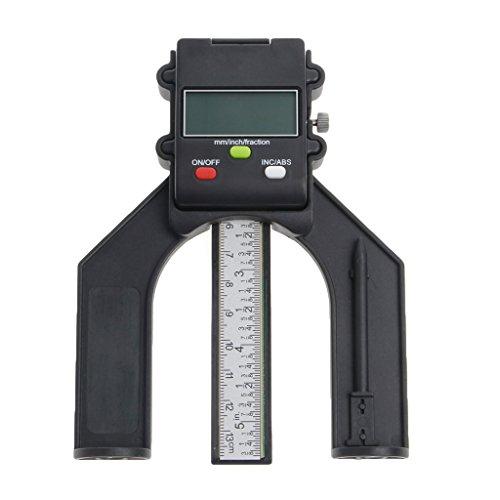 ZChun Digitale LCD-Magnetfuß-Blende 80mm-Handfräse-Selbstständiger Tiefenmesser