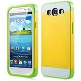 1X Hybrid TPU Silikon Strass Glitzer H�lle H�llen Schutzh�lle Tasche Etui Protection Case Protective Cover f�r Samsung Galaxy S3 S III I9300 I9305 - Lemon Gelb + Wei� + Gr�n