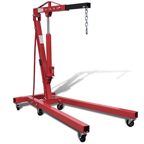 vidaXL Grue pliable pour moteurs Grue d'atelier mobile 2 tonnes 88,2 kgpas cher