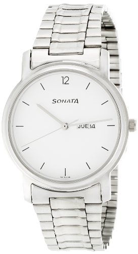 Sonata Classic Analog White Dial Men's Watch - NC1013SM06 image