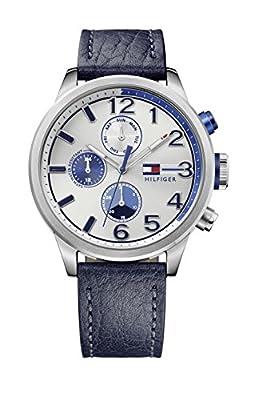 Tommy Hilfiger casual Sport hombre-reloj analógico de cuarzo de cuero 1791240