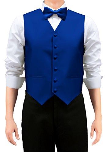 Retreez Gewebte Herren-Weste, Unifarben, mit Krawatte oder Fliege, als Set  in